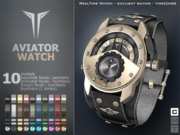 **RE** ReVoX Aviator Watch * MESH * (*ReVoX Collection*)