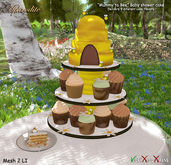 Aphrodite Mummy to bee beehive cake with cupcakes