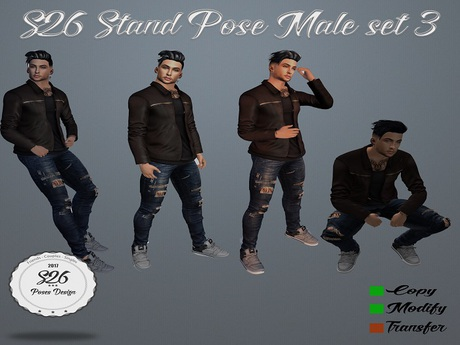 s26 pose stand male set3