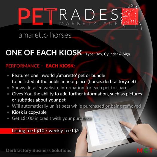 Petrades V2 - Breedable Web Solution (3 X Kiosk Amaretto horses)