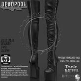 DEADPOOL: STUD LONG BOOT DEMO!!!!