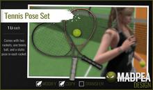 MadPea Tennis Pose Set