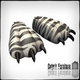 Culprit Monster Slippers ZEBRA