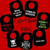 7 Goth Baby Bibs