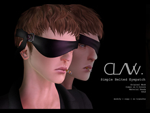 C L A Vv. Simple Belted Eyepatches