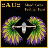 :AU:: Mardi Gras Feather Fans