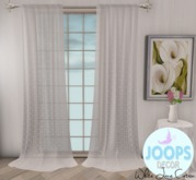 Joops Decor - White Lace Curtain.(Boxed)