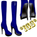 *IGS* Boots with zip, Blue