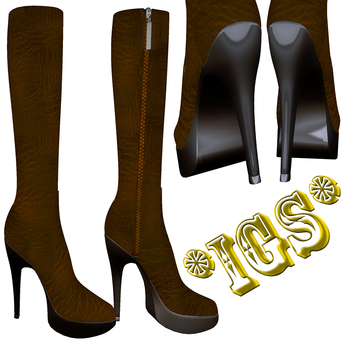 *IGS* Boots with zip, Brown