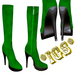 *IGS* Boots with zip, Green