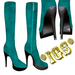 *IGS* Boots with zip, Sky blue