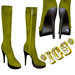 *IGS* Boots with zip, Yellow