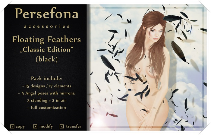 Persefona Floating Feathers Classic (black)