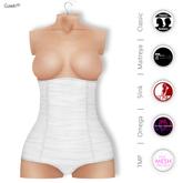 GAWK! White HighWaist Panties   BoM & Appliers for Maitreya, Slink, TMP & Omega System