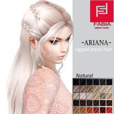 -FABIA- Mesh Hair  <Ariana> Natural Tones