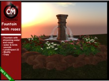 CM Creations, Fountain with Roses