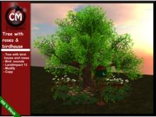 CM Creations Tree with Birdhouse