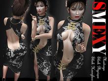 ::Smexy:: Cheongsam Dress BLACK