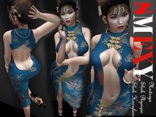 ::Smexy:: Cheongsam Dress BLUE