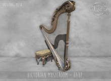 -DRD- Victorian musicroom- harp