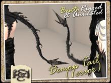 [EC] - Demon Tail (Terror) (Black) (BENTO - Animated) (M/F)
