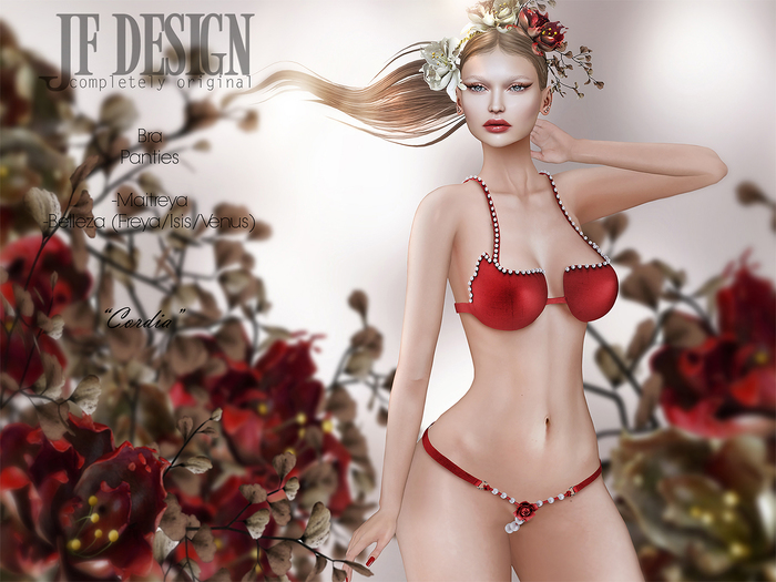 "JF Design ""Cordia"" [Maitreya/Belleza] Bra - Red"