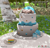 Aphrodite Its a boy Baby shower cake