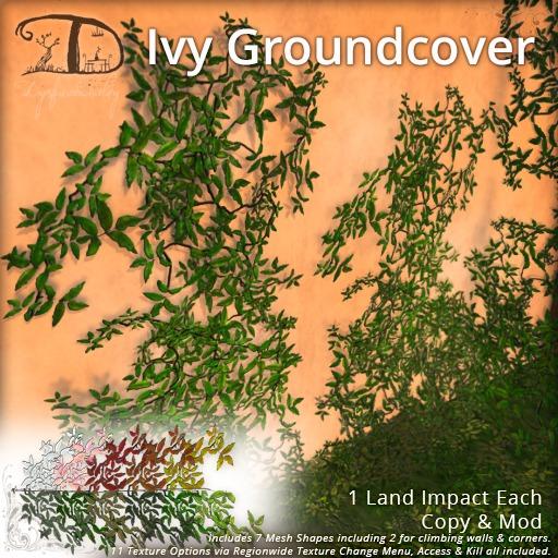[DDD] Ivy Groundcovers - 1 prim & regionwide texture change!