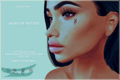Second Life Marketplace Prclothing Under Eye Tattoo Gang Gang Exclusive A tear drop tattoo under the eye means you have murdered someone! under eye tattoo gang gang exclusive