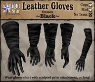 *LightStar - Leather Gloves-Black