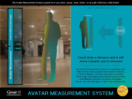 Gaagii 3D - Avatar Measurement System [ Full access Touch and Measure ]