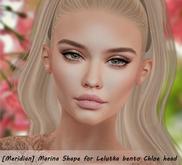 [Meridian] Marina Shape for Lelutka bento Chloe head
