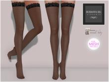 BigBeautifulDoll - Fishnet stockings Ver.2 - Black Maitreya Lara TMP TheMeshProject The Mesh Project Fishnets