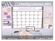 Milo. Calendar Boards - December 2017