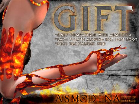 0o Morph Asmodina GIFT for left foot + Normalizer HUD for feet