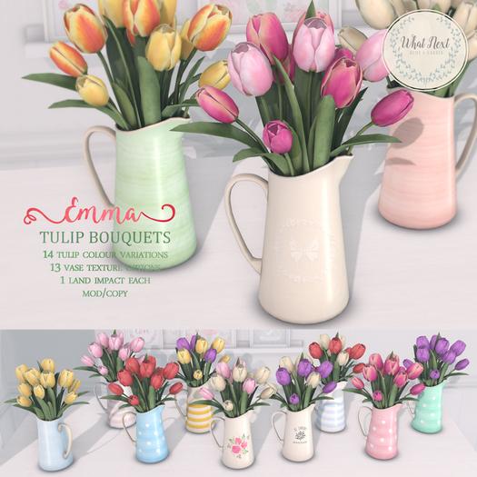 {what next} 'Emma' Tulip Bouquet - Full Set