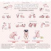 +Half-Deer+ Mini Piggy - Cloudwatching (Pink)