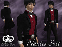 Nantes Steampunk Suit - Black-Red