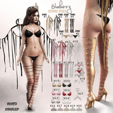 #17 Blueberry - Iconic Doll - Panties - Silver - Maitreya