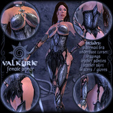"Chaospire ""Valkyrie"" female armor - 6-piece set"