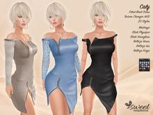 Sweet Temptations :: Caly Dress - Maitreya, Slink (P, H), Belleza (V, I, F) - 20 Textures HUD