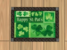 Happy St. Pat's Doormat