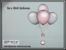 .::DD::. It's a Girl Balloons