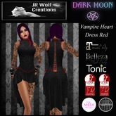 Vampire Hearts Dress - Red (JR Wolf Creations)