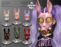 .{PSYCHO:Byts}. Bunny Gas Mask - Black