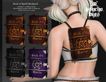 .{PSYCHO:Byts}. Book of Spells Backpack - Purple