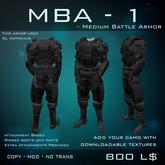 [BW] MBA - Medium Battle Armor