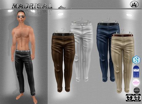 MADRIGAL:. NICOLAS Male Formal Pants