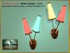 Bliensen + MaiTai - Be Bop A Lula - retro 1950s Wall Lamps