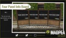 MadPea Four Panel Info Board